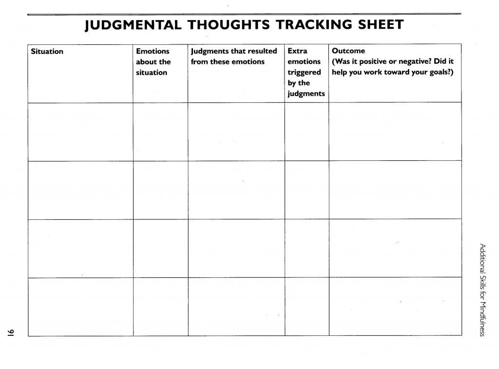 Free dbt therapy worksheets