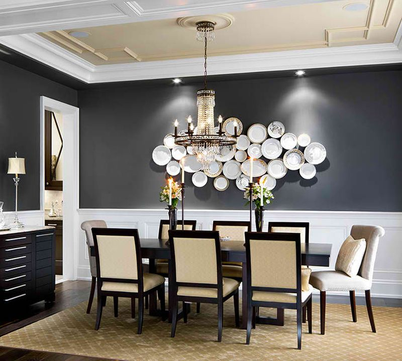 20 Beautiful Dining Rooms With Black Accent Walls