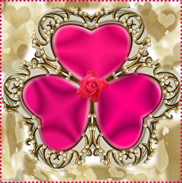 3 heart frames | Valentine Frames | Pinterest