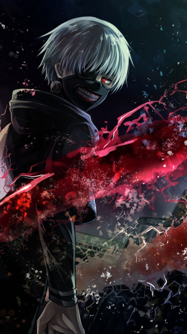 Google themes anime tokyo ghoul - Tokyo Ghoul Kaneki Free Anime Wallpaper Iphone Buscar Con Google