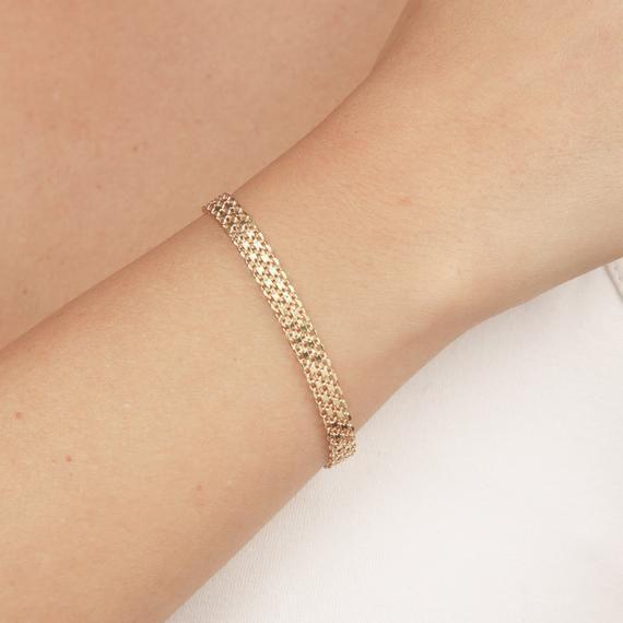 Geometric bracelet gold bracelet 18k gold plated bracelet wedding bracelet minimalist bracelet bridesmaid bracelet