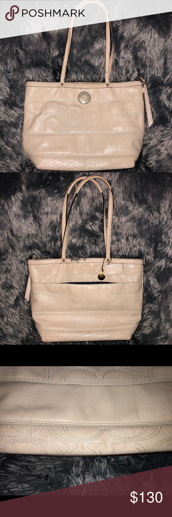 ♥️COACH♥ Shoulder Bag! Good condition 💞🌸 (AUTHENTIC) Beautiful Leather bc13f073dc4c1