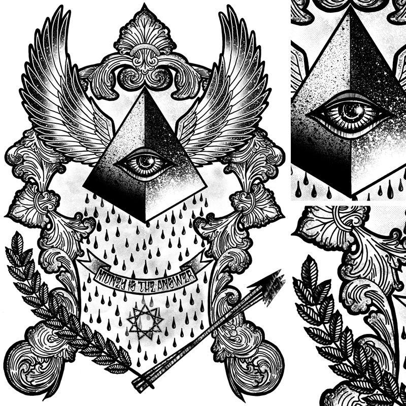 Tom Gilmour Esbozos, Xilografía, Tatuajes