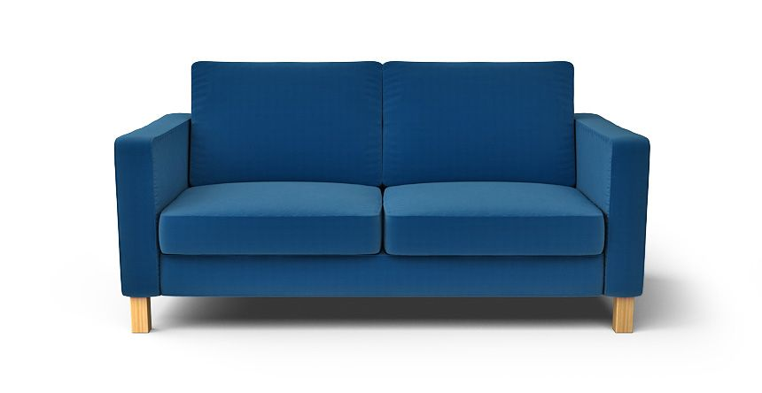 Karlstad 2 Seater Sofa Slipcover - Comfort Works Custom Slipcovers... Velvet Blends: Rouge Indigo: $290