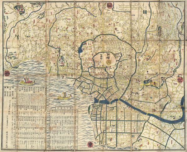 Japanese map of edo or tokyo japan 1849 japanese map of edo or tokyo japan gumiabroncs Images