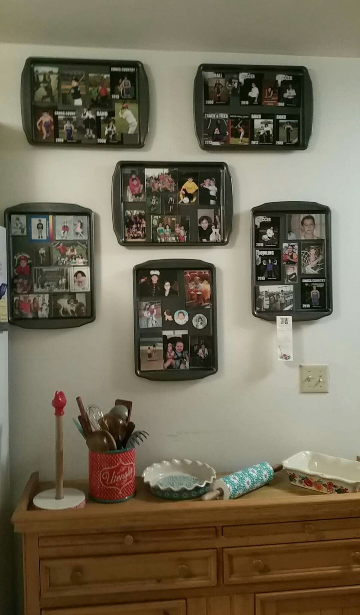 Cookie Sheets Are A Great Way To Display Photo Magnets I