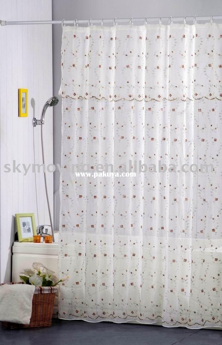 Extra Long Shower Curtain Liners Fabric