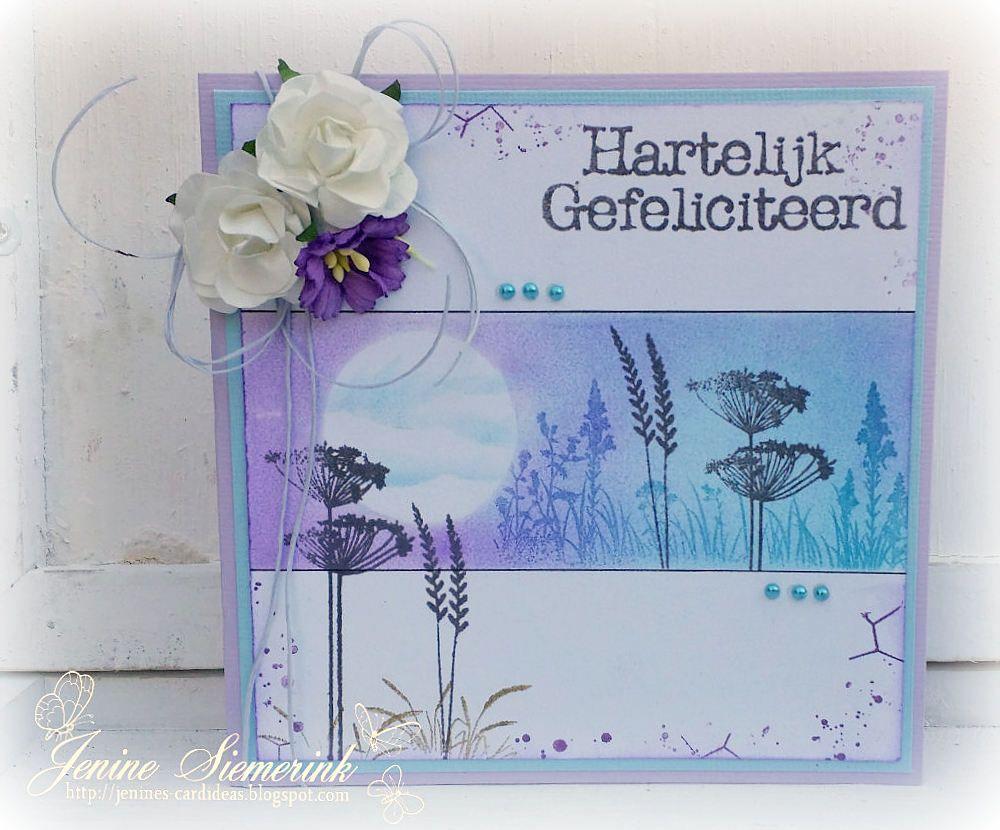 Jenine's Card Ideas: Grasjesstempels CraftEmotions
