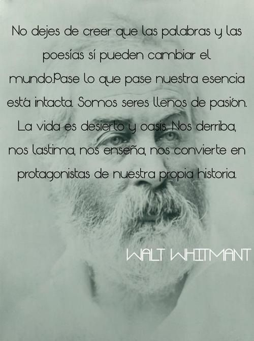 Walt Whitman Poetry Picture Quotes Words