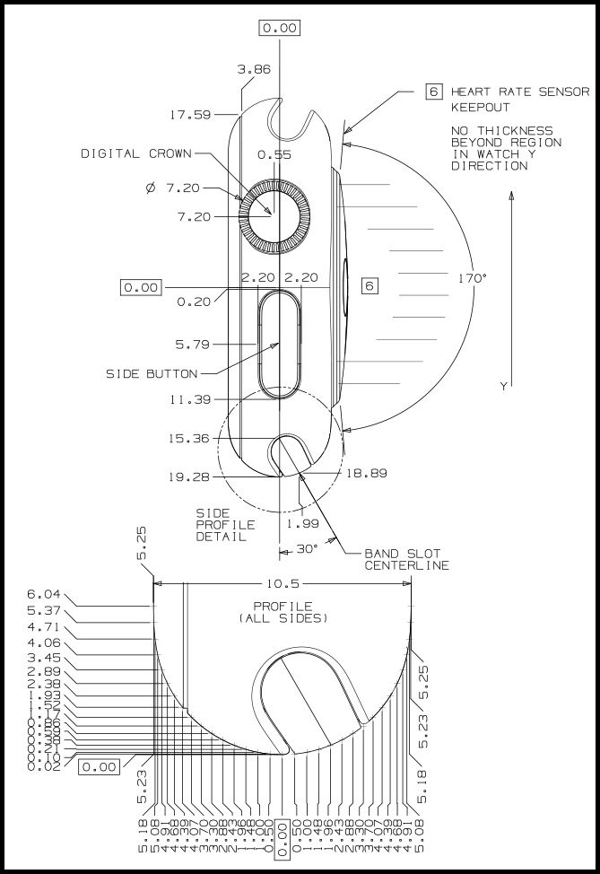 apple releases apple watch cad drawings i think they could