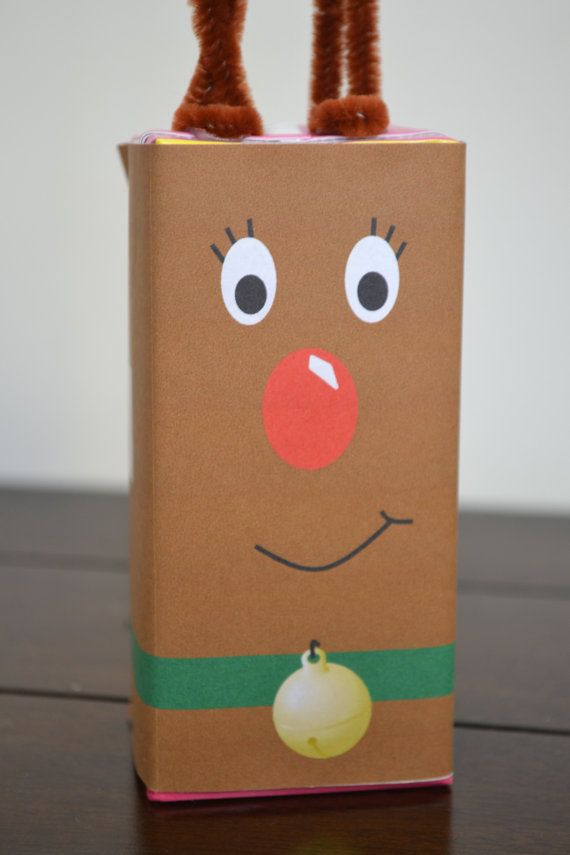Instant Download Reindeer Juice Box Labels By Partymyway On Etsy Label Christmas Juice Boxes Reindeer