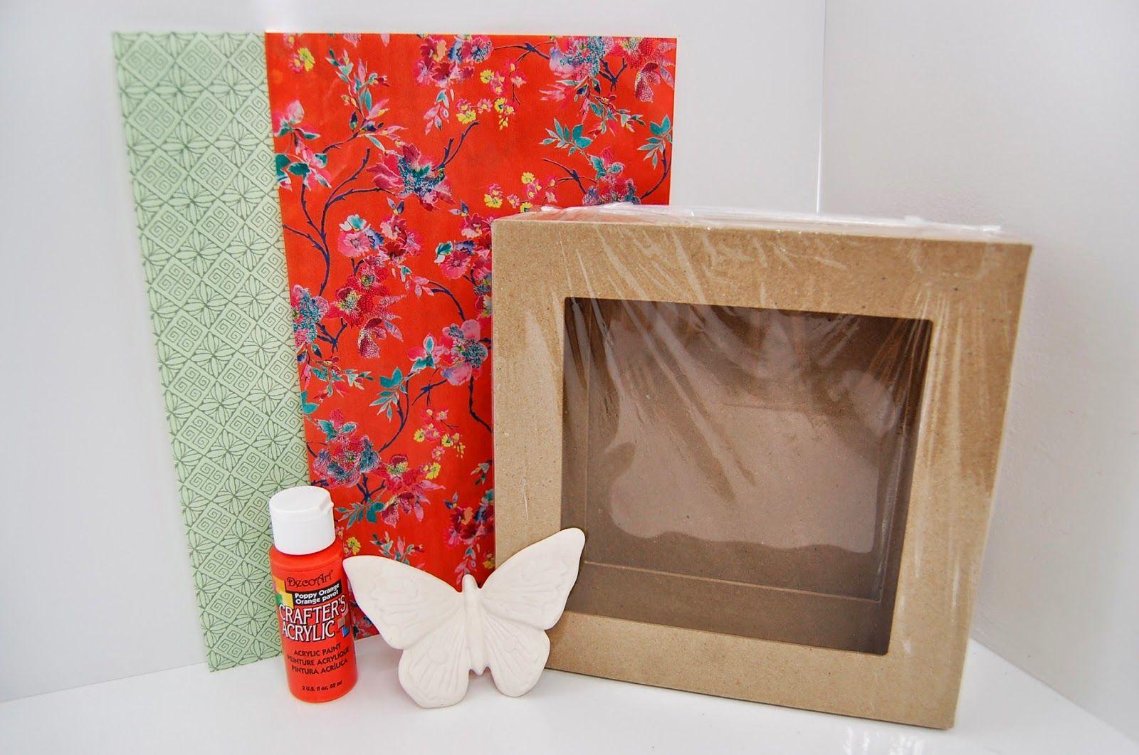 3d Box Frame Decoupage Decopatch Makeover Wall Art Idea