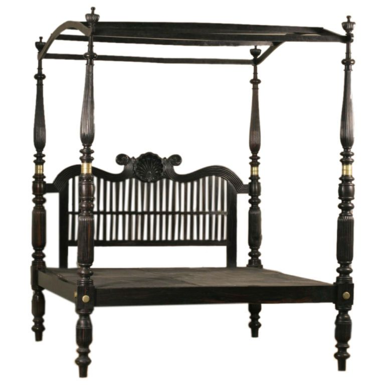 indian bedroom furniture catalogue%0A   th Century AngloIndian ebony canopy bed