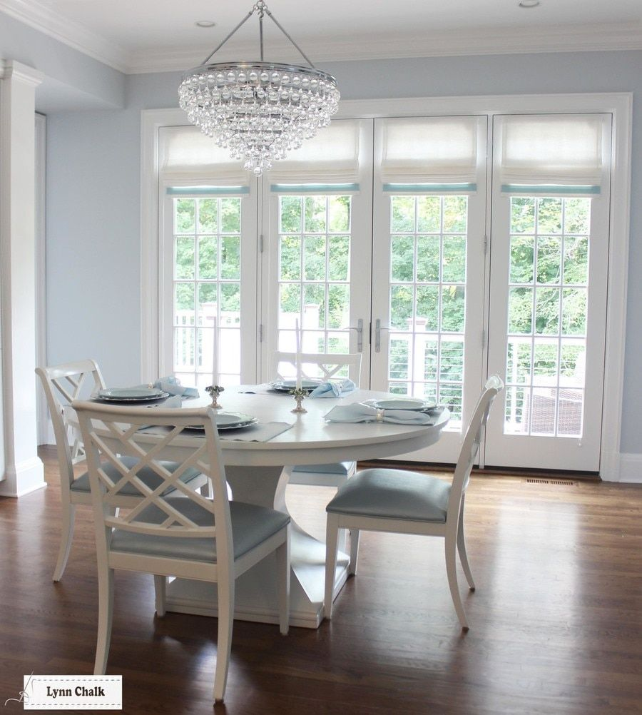 Kitchen Roman Shades In Linen With Samuel And Sons
