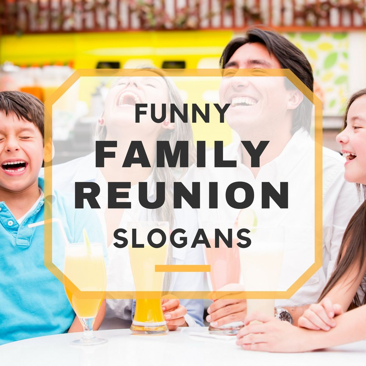 Ahh.. summertime The season of family reunions. It's
