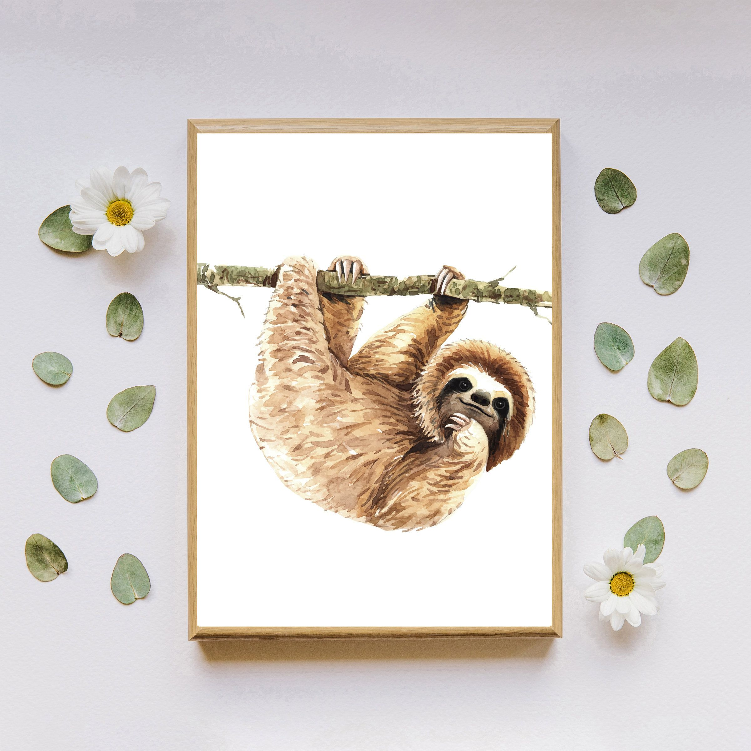 Baby Sloth wall art, Digital download, Sloth decor, Sloth print, Sloth wall art, Printable wall art, Sloth art, Cute baby sloth print #babysloth Baby Sloth wall art, Digital download, Sloth decor, Sloth print, Sloth wall art, Printable wall art, Sloth art, Cute baby sloth print #babysloth