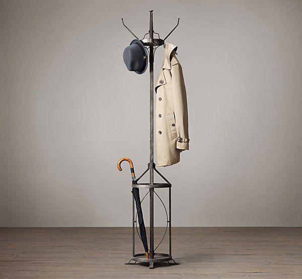 Percheros de pie originales diseño industrial | Arte en hierro ...