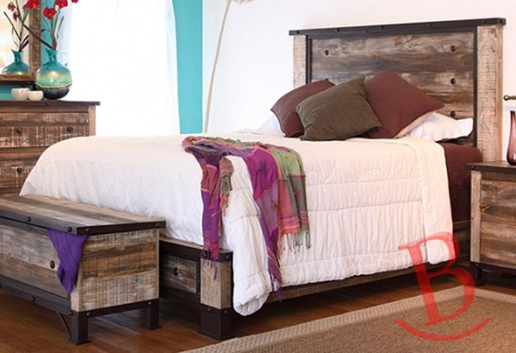 Burleson Home Furnishings : Rustic Beau King Bed Solid ...