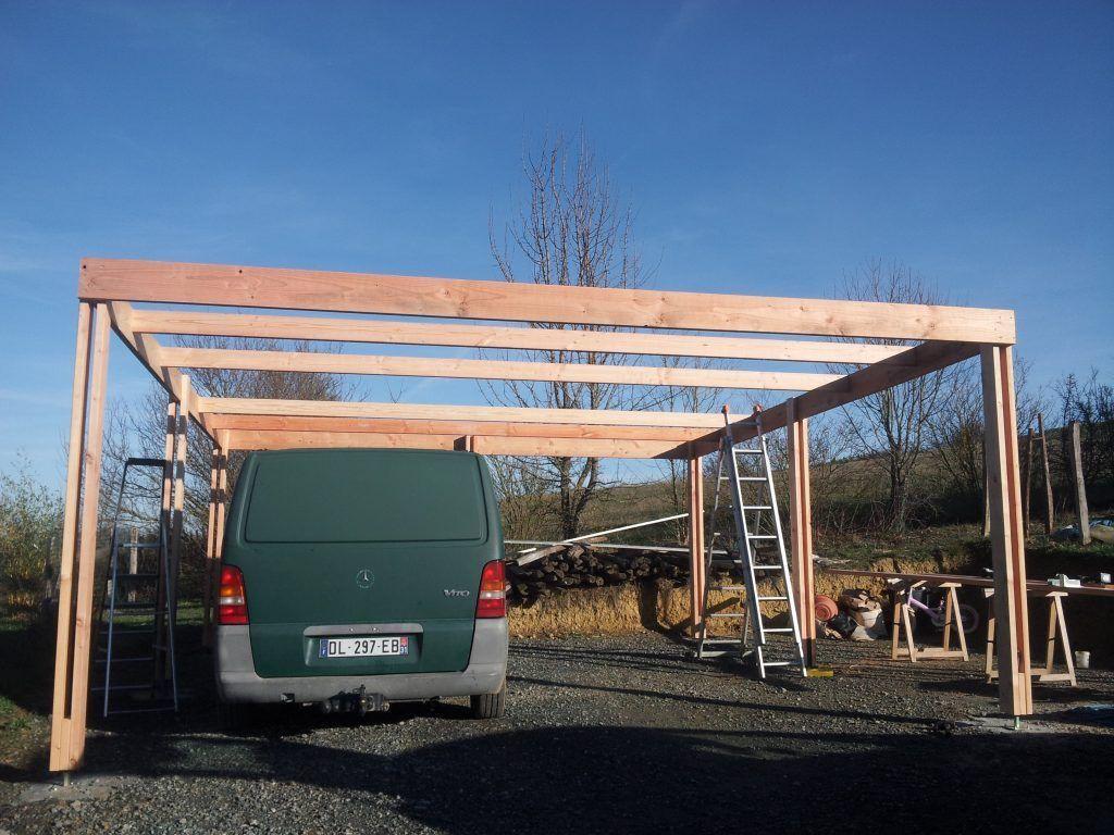 construction d 39 un carport mono pente en bois projects to try in 2019 abri voiture garage abri. Black Bedroom Furniture Sets. Home Design Ideas