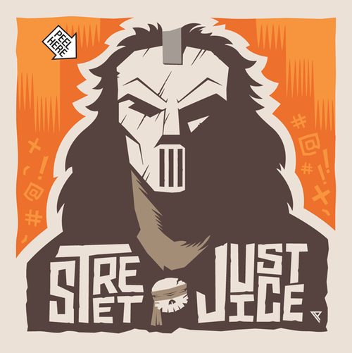 Street justice sticker by paul panfalone