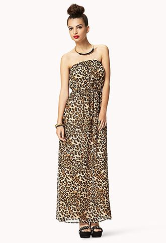 Leopard maxi dress forever 21