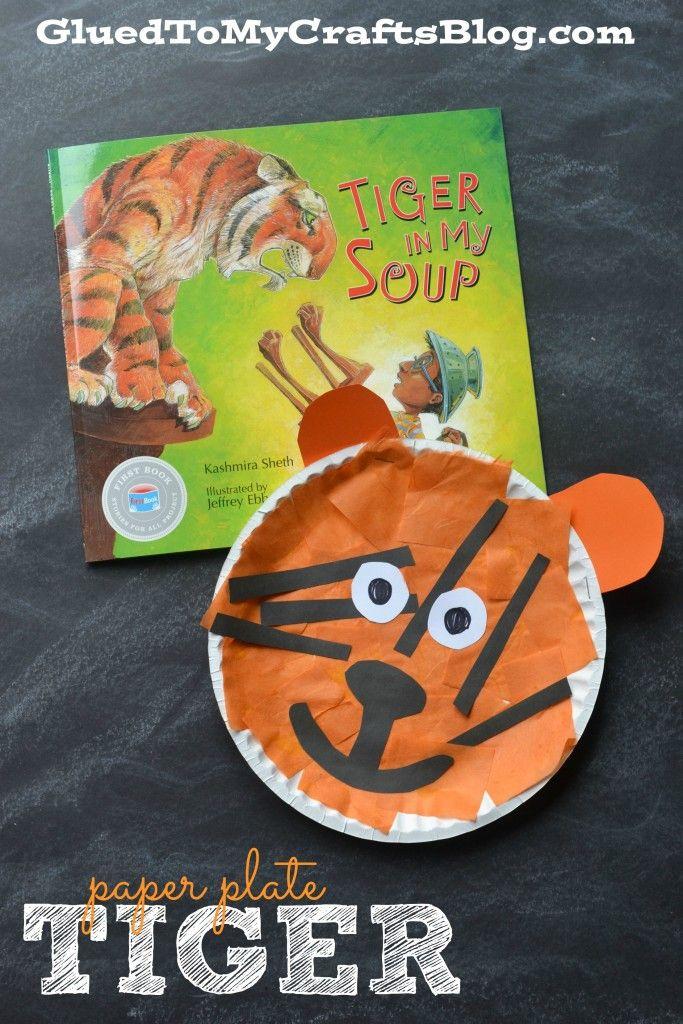 Paper Plate Tiger Kid Craft Zoo Pinterest Preescolar
