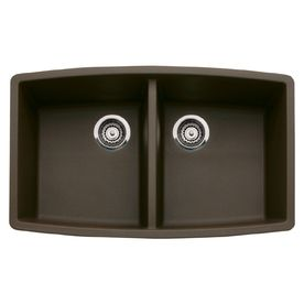 Shop Blanco Double Basin Undermount Composite Kitchen Sink At