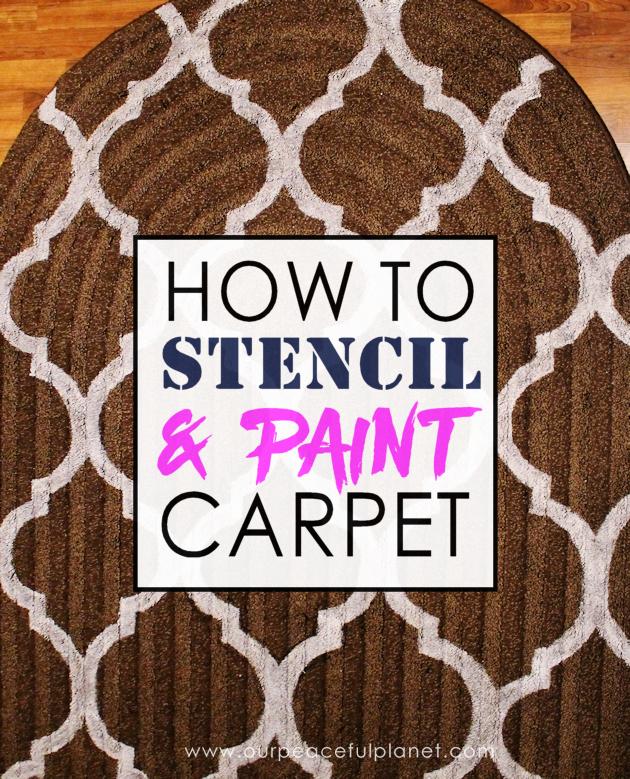 How To Stencil Paint Carpet Painting Stencils