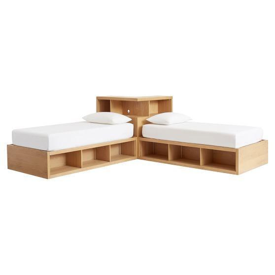 Store-It Corner Media Set, Twin, Simply White - Furniture ...
