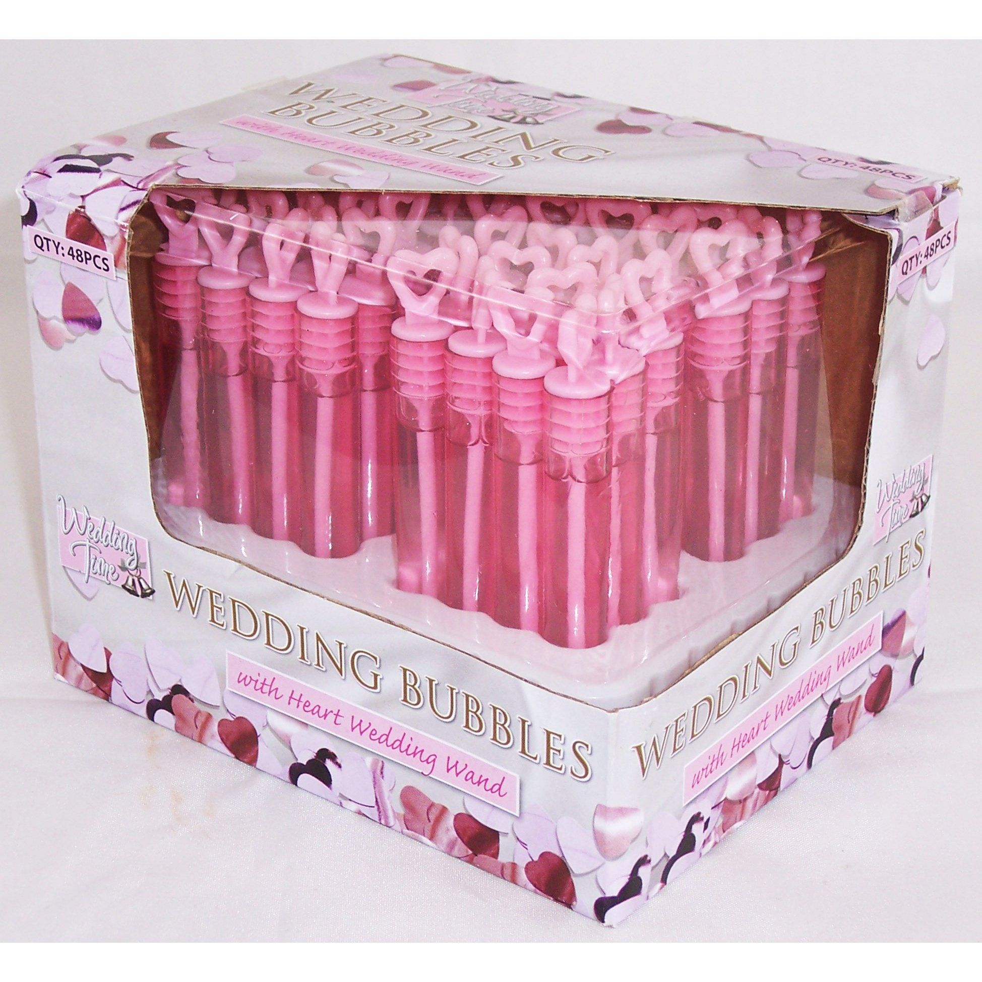 Wedding Time 48 x Wedding Bubble - Bubbles Wands - Party Favours ...