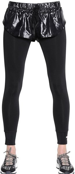 a8836774f1f3a Love this: Adidas By Stella Mccartney Shiny Nylon Shorts Microfiber Leggings  @Lyst