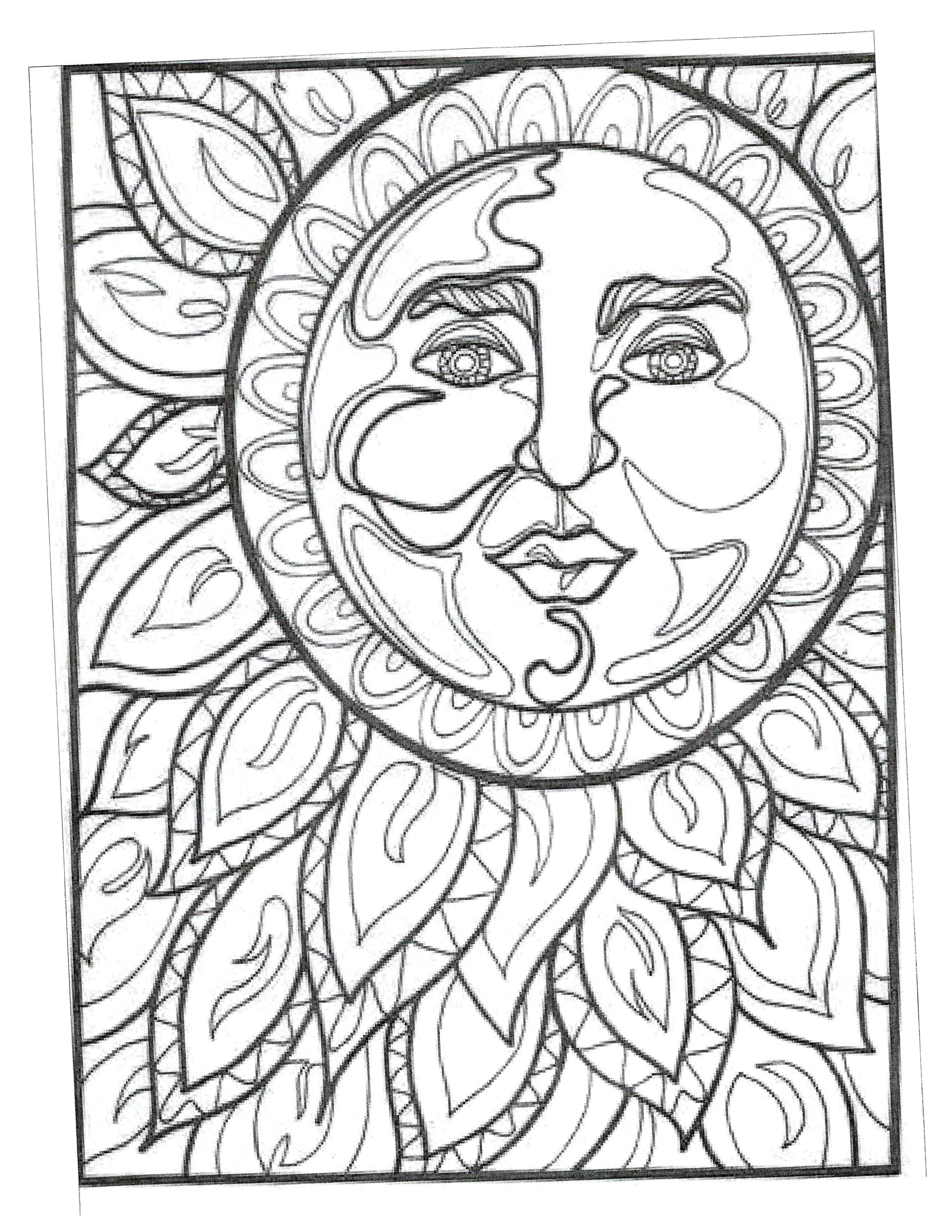 Moon Coloring Pages Image By William Mike Groeneveld On