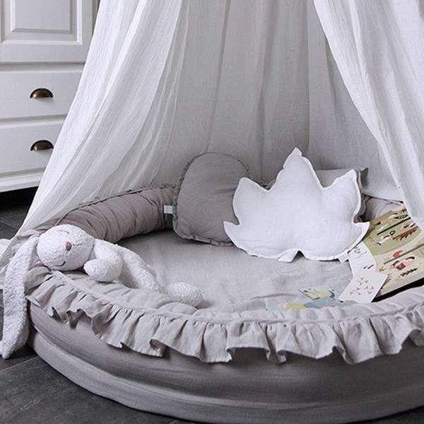 Kriechender Teppich aus Rüschenfell für Babys - TYChome Spielzimmer-Orga ...