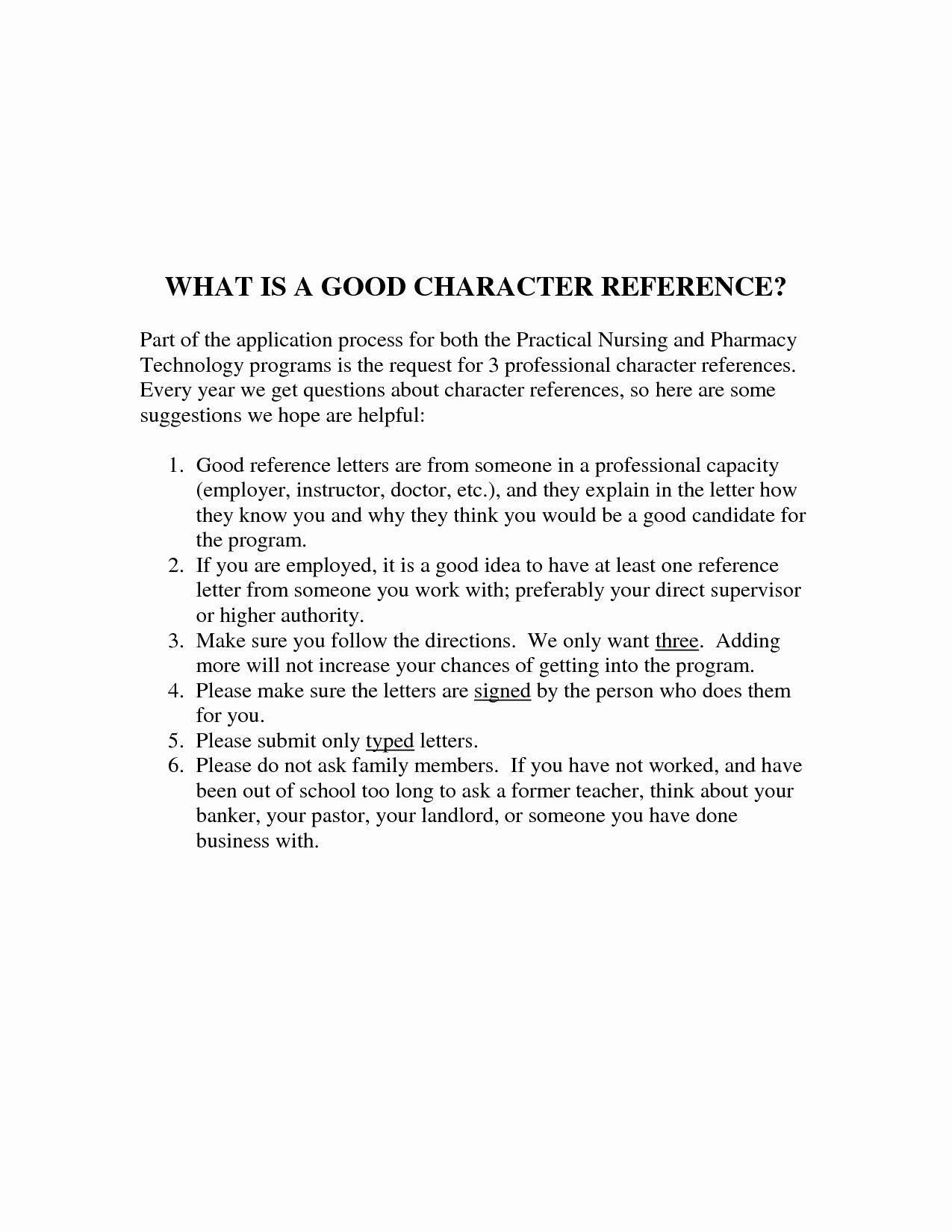 Good Moral Character Letter Sample
