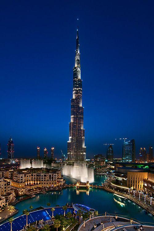 برج خليفة Tour Khalifah Dubai Visit Dubai Night Photography