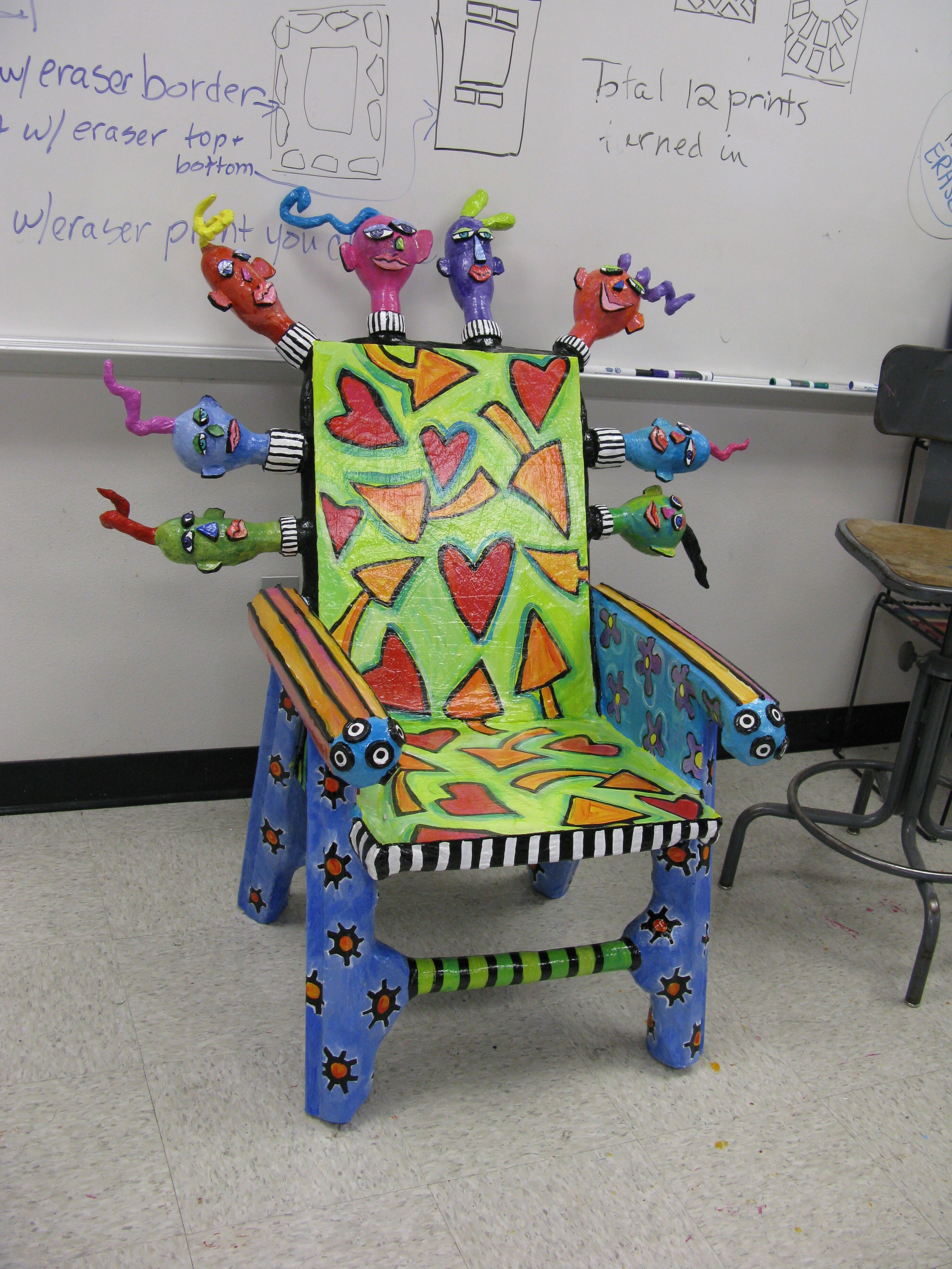 Papier mache chair art pinterest muebles tropicales for Paper mache furniture ideas