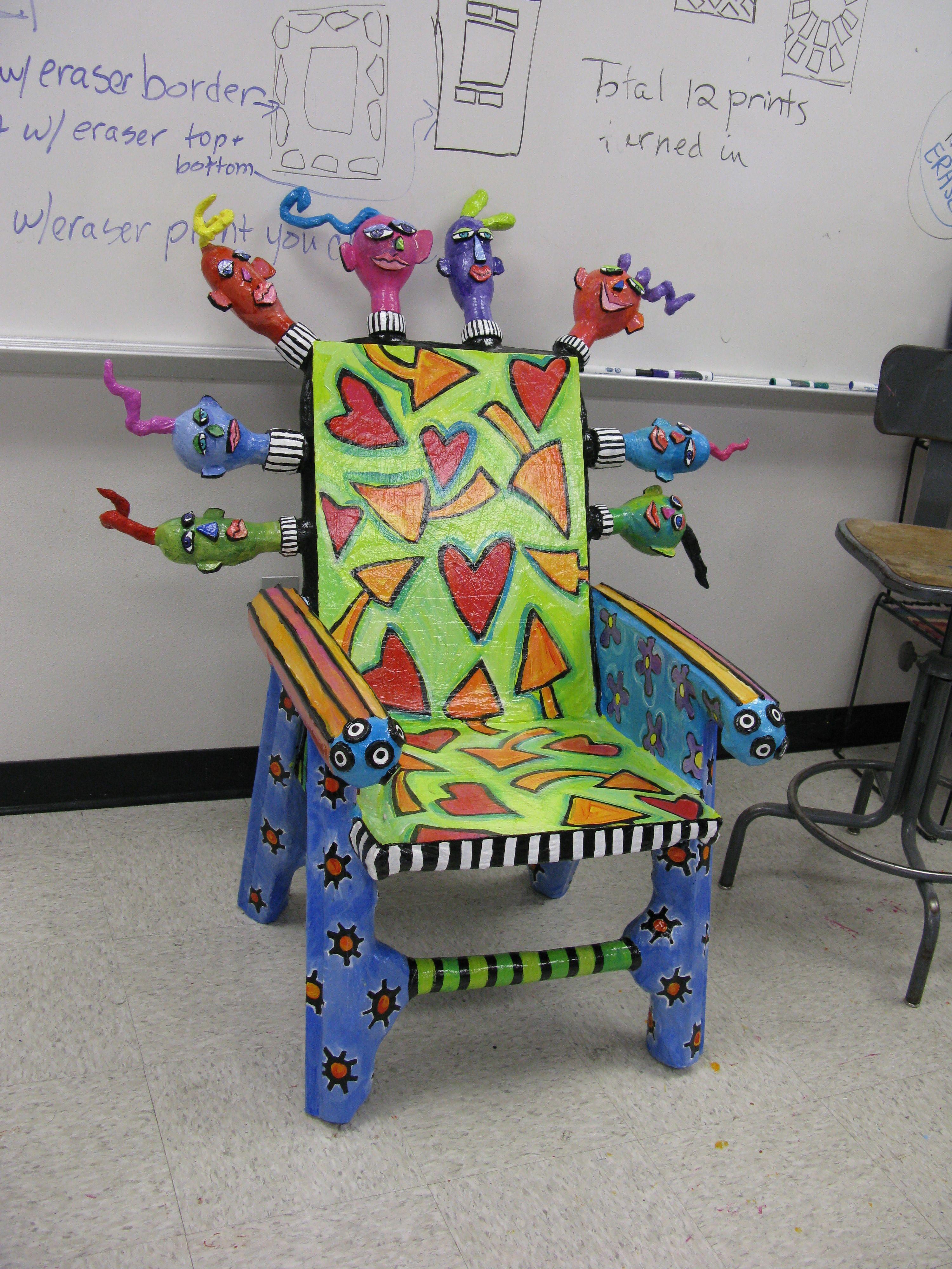 Papier mache chair art pinterest papier mache paper for Paper mache furniture ideas