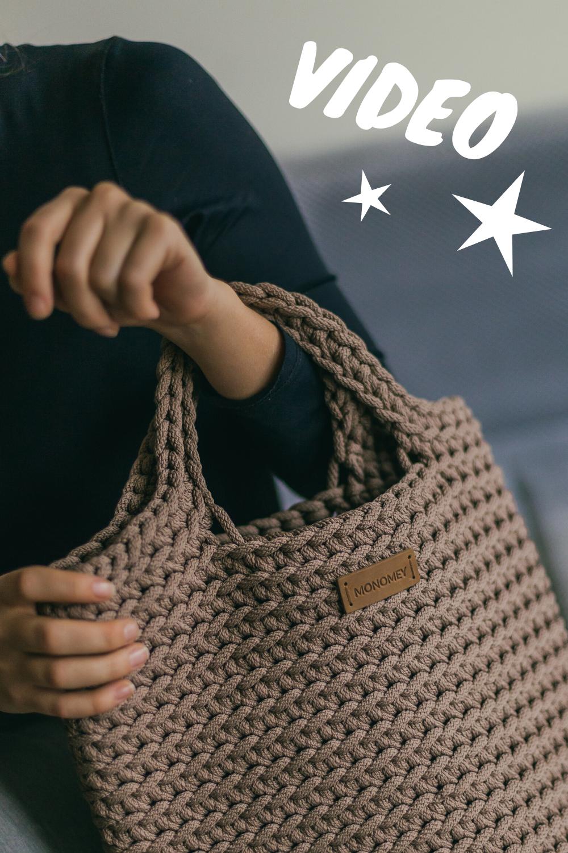 Crochet tote bag VIDEO pattern