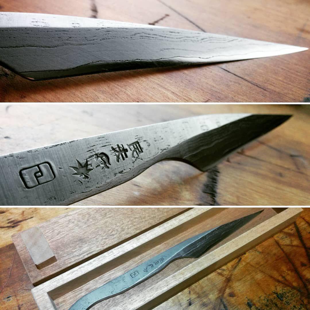 Beautiful Wrought Iron Kiridashi Forge Welded Shirogami 2 Kiridashi Wroughtiron Woodworking Carpentry Smithandspathisforge Forging Wrought Iron Iron