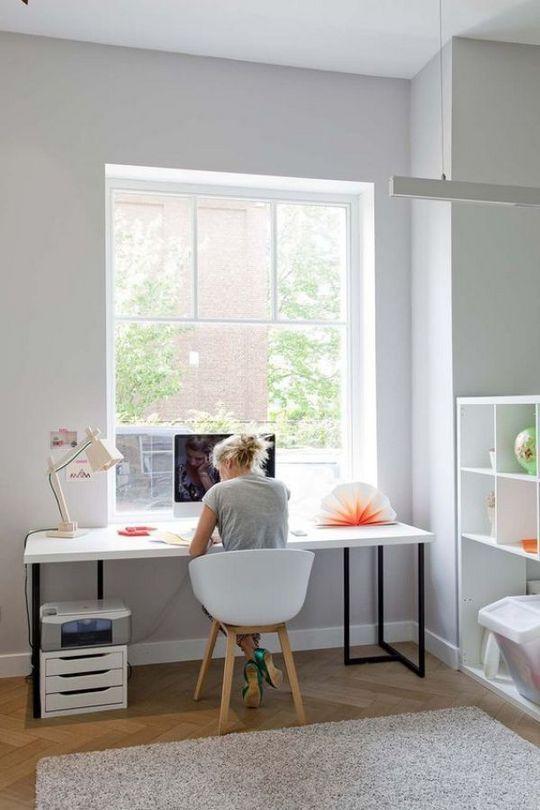 40 Scandinavian Home Office Design With Look Simplicity Elegance Home Office Furniture Home Office Decor Home Office Design