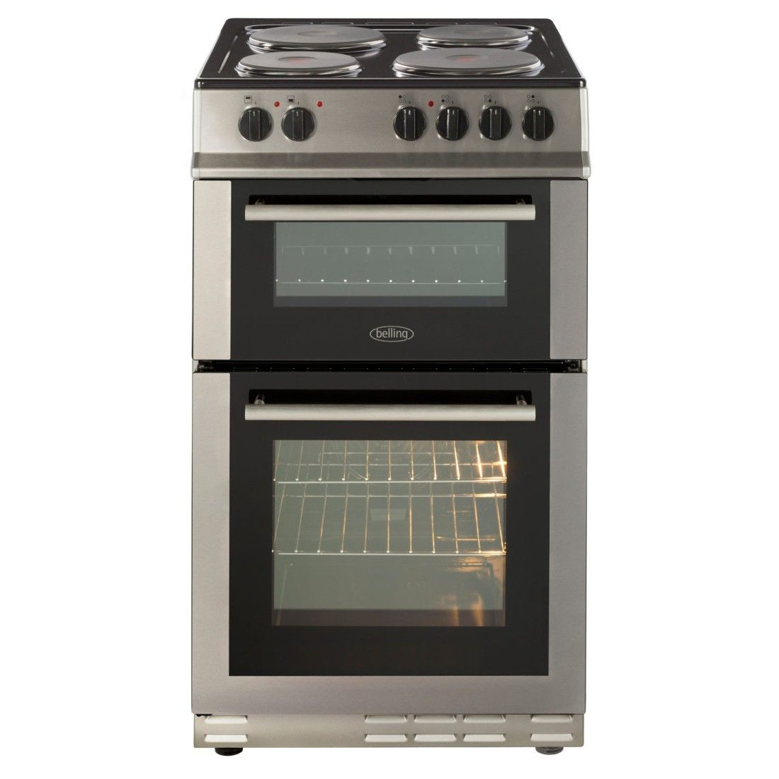 Belling Stainless Steel 50cm Electric Fanned Double Oven Range Cookers