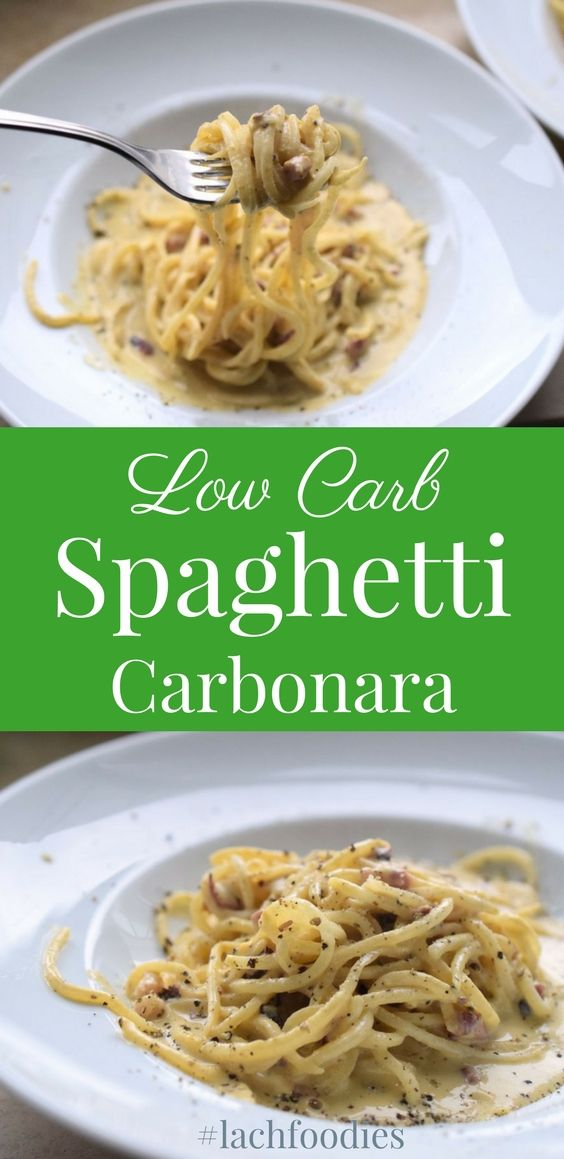 low carb spaghetti carbonara rezept ich liebe foodblogs pinterest nudel nudeln. Black Bedroom Furniture Sets. Home Design Ideas