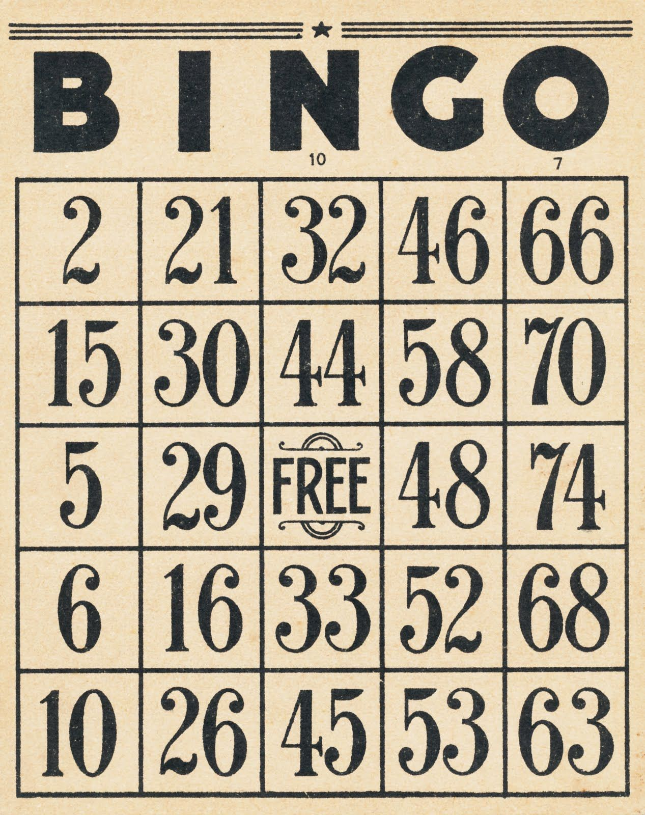 Collage Candy: Vintage Bingo cards and 10-cent tickets | Graphics ...
