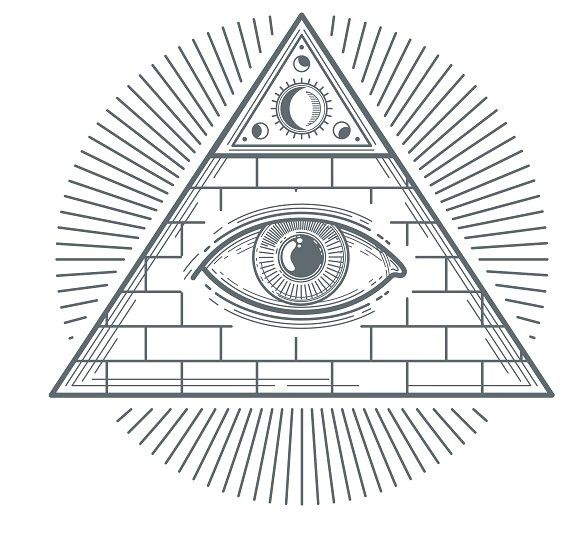 Freemasonry Eye Symbol Pattern Vectors Pattern Vectors