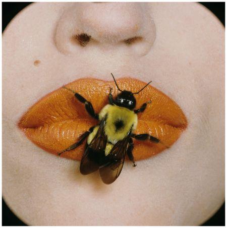 Irving Penn, Bee on Lips, New York, September 22, 1995 © The Irving Penn Foundation