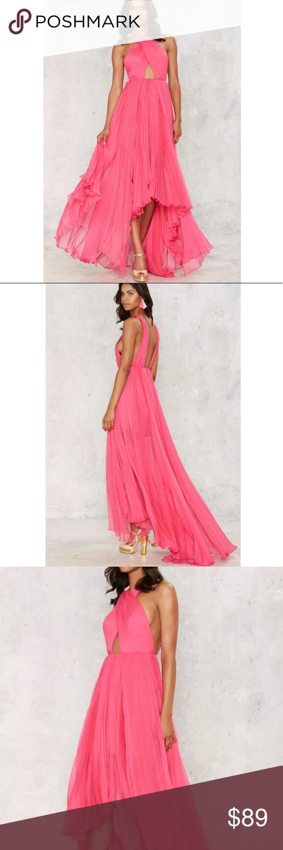 Hot pink maxi dress  Nasty Gal Hot Pink Maxi Dress Boutique  My Posh Picks  Pinterest
