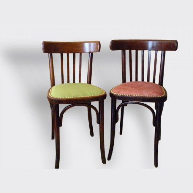 Chaise Bistrot Style Baumann Thonet Bois Et Teck Multicolor Bon Etat Classique Chaise Vintage Chaise Bistrot Deco Vintage