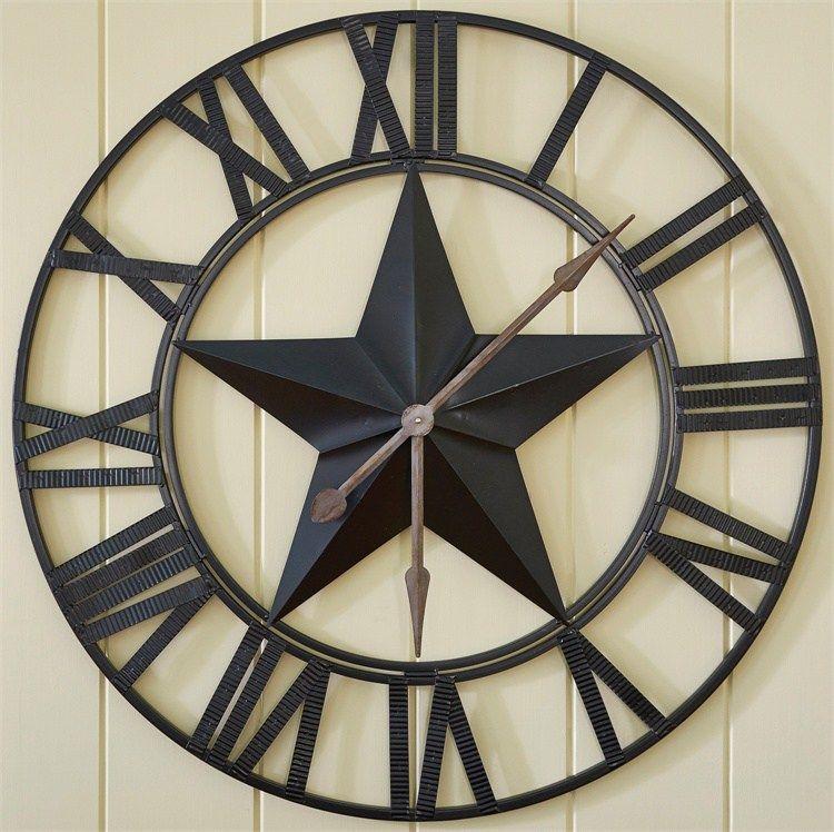 Rustic Metal Wall Clock 35 Large Wall Clock Western Decor Oversized Wall Clock Large Wall Clock Large Rustic Wall Clock