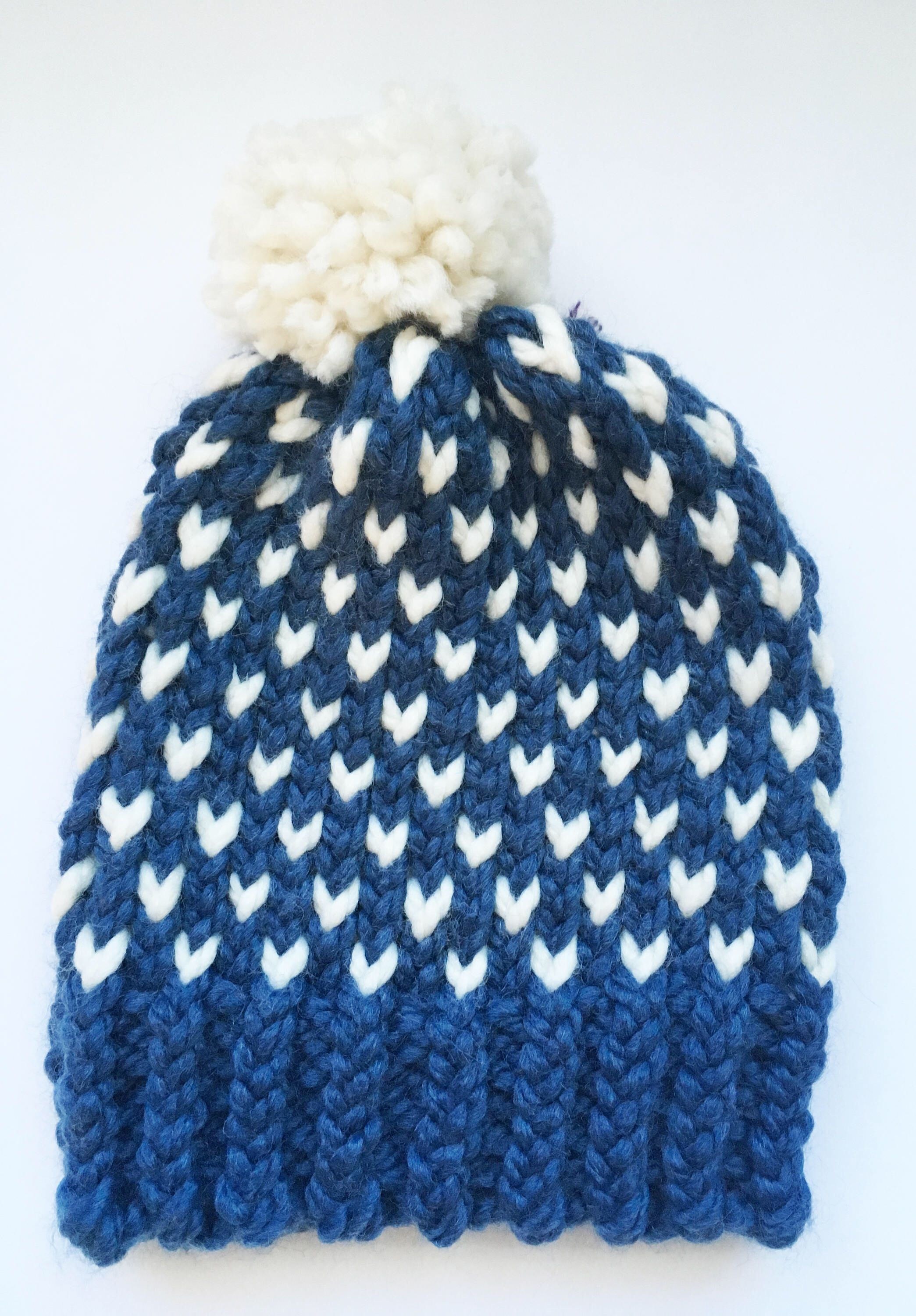 b211a436f8a Women s Blue and White Heart Hat