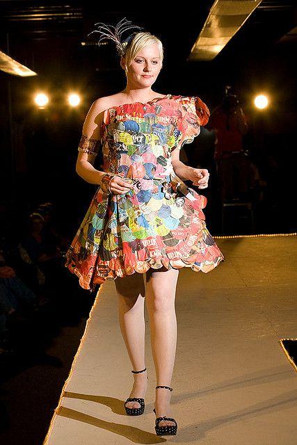 Garbage bag dress fashionista